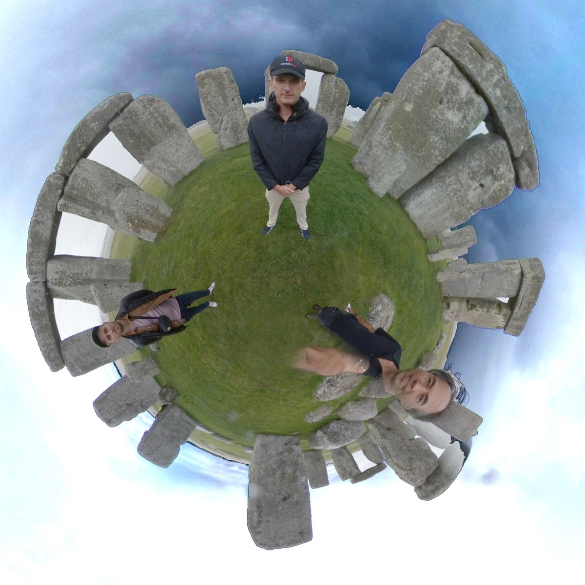 Had a great day filming with @thehistoryguy at Stonehenge last week - getting in a few days before it opens to the public this weekend. Heres a #littleplanet #360 view! The film will be on @historyhit TV soon.