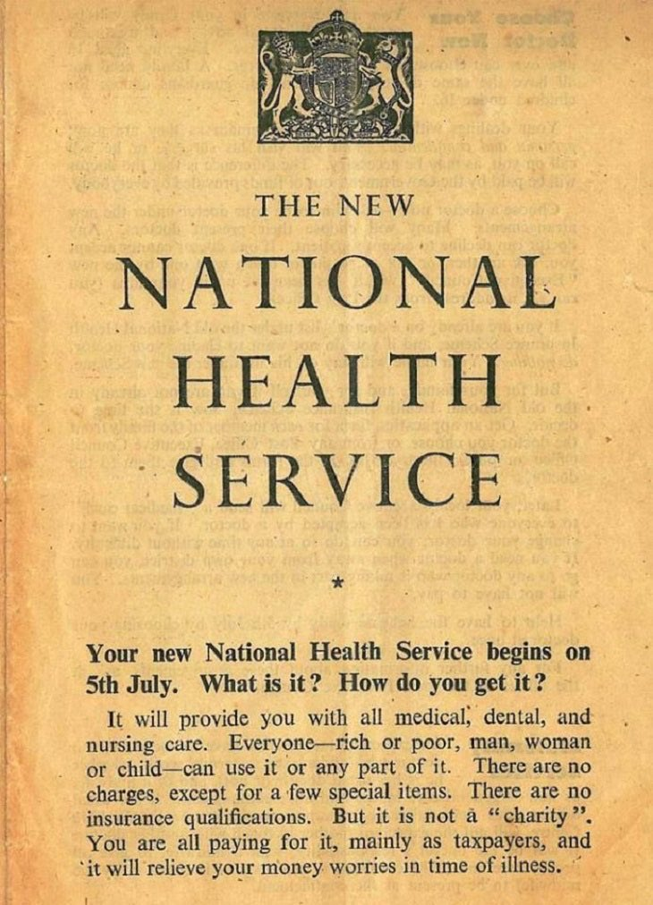 """""""It will relieve your money worries in time of illness."""" #happybirthdayNHS"""