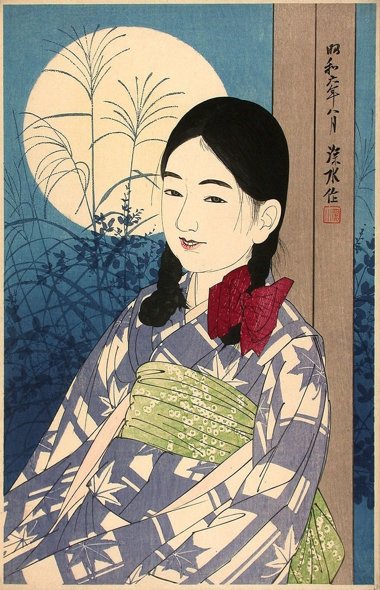 'Autumn Full Moon' - Ito Shinsui, 1931. #ukiyoe #art #moon #fullmoon https://t.co/tqhqIqdpKD