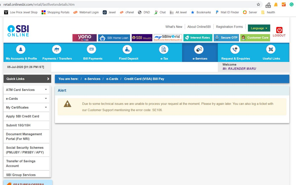 @SBICard_Connect @rkumar1958 @RBI @billdesk  Can you please suggest that how a credit card user has to make the payment? My Last month payment which I paid through Bill desk that you robbed & neither reply nor refund after 25days & now your own Bank transfer is not working?pic.twitter.com/gg0baA1yLW