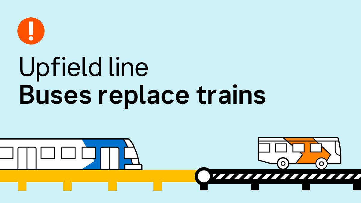 Upfield line: Buses replace trains North Melbourne - Upfield from 8:05pm to last train tonight, while maintenance works take place.  Info:  http:// ow.ly/5Ru550AiNWM    <br>http://pic.twitter.com/wITPlQLPOA