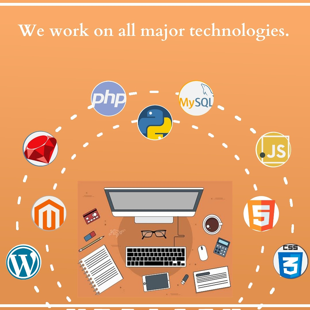 We work on all major technologies  * Php * Python * Ruby * Javascript * Angular * CSS3 * HTML5 * Bootstrap 4 * MySQL * MongoDB * Wordpress * Magento * Data Security * Database Saftey * Protected DNS * Progressive web apps (PWA) and accelerated mobile pages (AMP) pic.twitter.com/hlLTkR6gEt