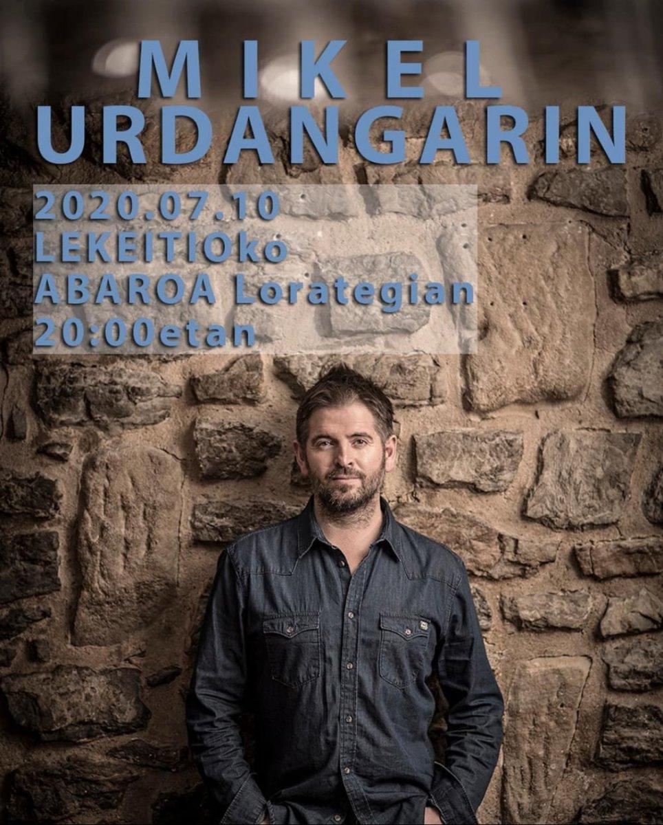 Mikel Urdangarin (@txatxamatxali) Uztailaren 10ean #Lekeitio-ko Abaroa Laborategian. 20:00eta. https://t.co/kkNzRop6yq