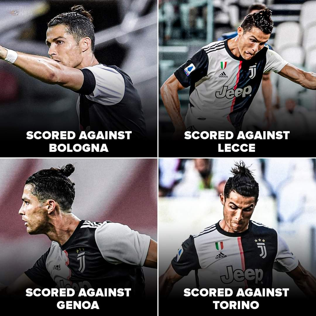 Cristiano Ronaldo has scored in his last 4 Serie A matches 👑.