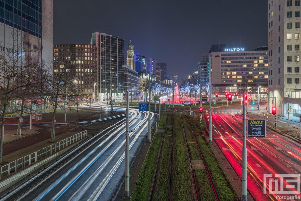 Het #Hofplein in #Rotterdam door @marcvanderstelt onder andere op #canvas en #fotoprint verkrijgbaar. Bestel nu via https://t.co/Eq1bxtyWLn #art #fineart #kunst #wallart #weerfoto #behang #wallcover #dibond #night #nightphotography https://t.co/eVisVHvZae