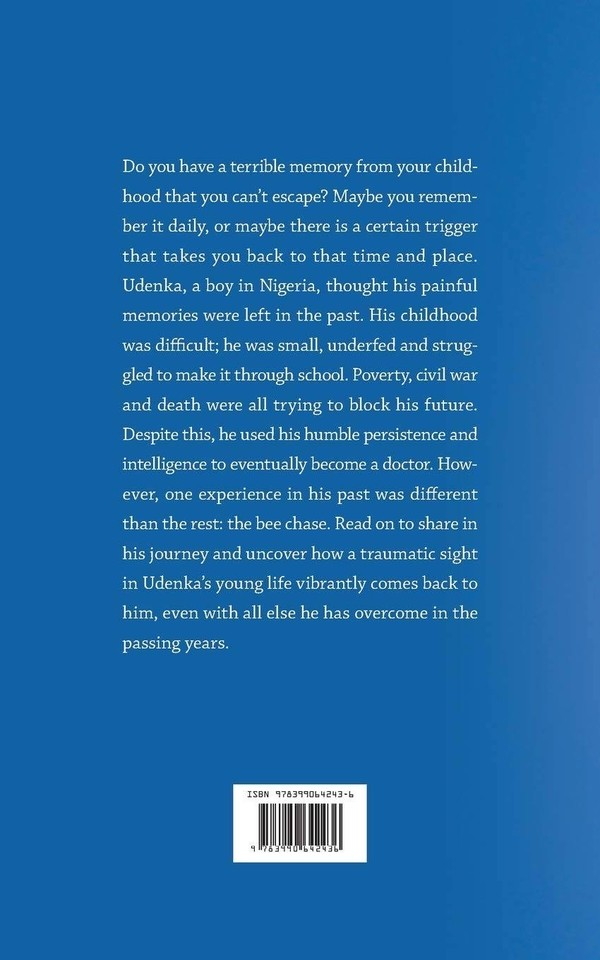 My blurb for The Bee Chase. It's a story following a young boy, Udenka, in Nigeria an his persistence to succeed as a doctor. Check it out on Amazon! https://t.co/G7GU7b9NKb #thebeechase #nigerianbooks #amwriting #getwriting #selfpublish https://t.co/1sfyIre4I7