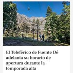 Image for the Tweet beginning: El Teleférico de Fuente Dé