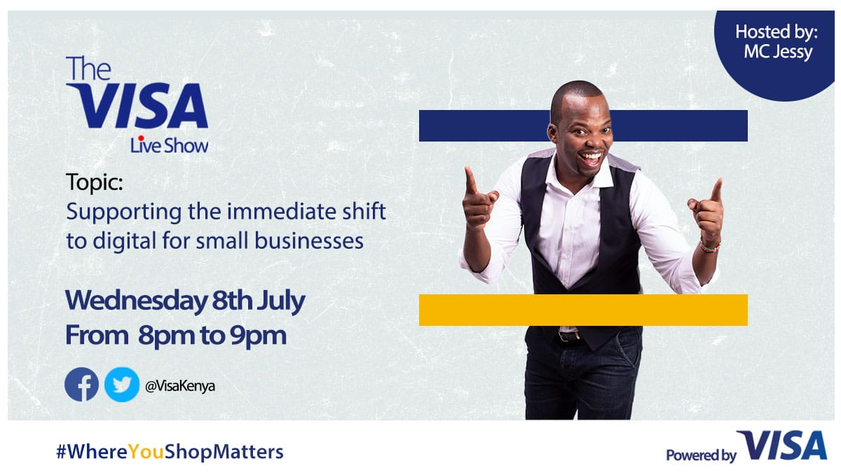In our second episode of The Visa Live Show, our host @JessyTheMC will be taking us through an interactive session on how we can support the immediate shift to Digital for small businesses amid the Covid-19 crisis.   #WhereYouShopMatters https://t.co/ino6oTZRmO