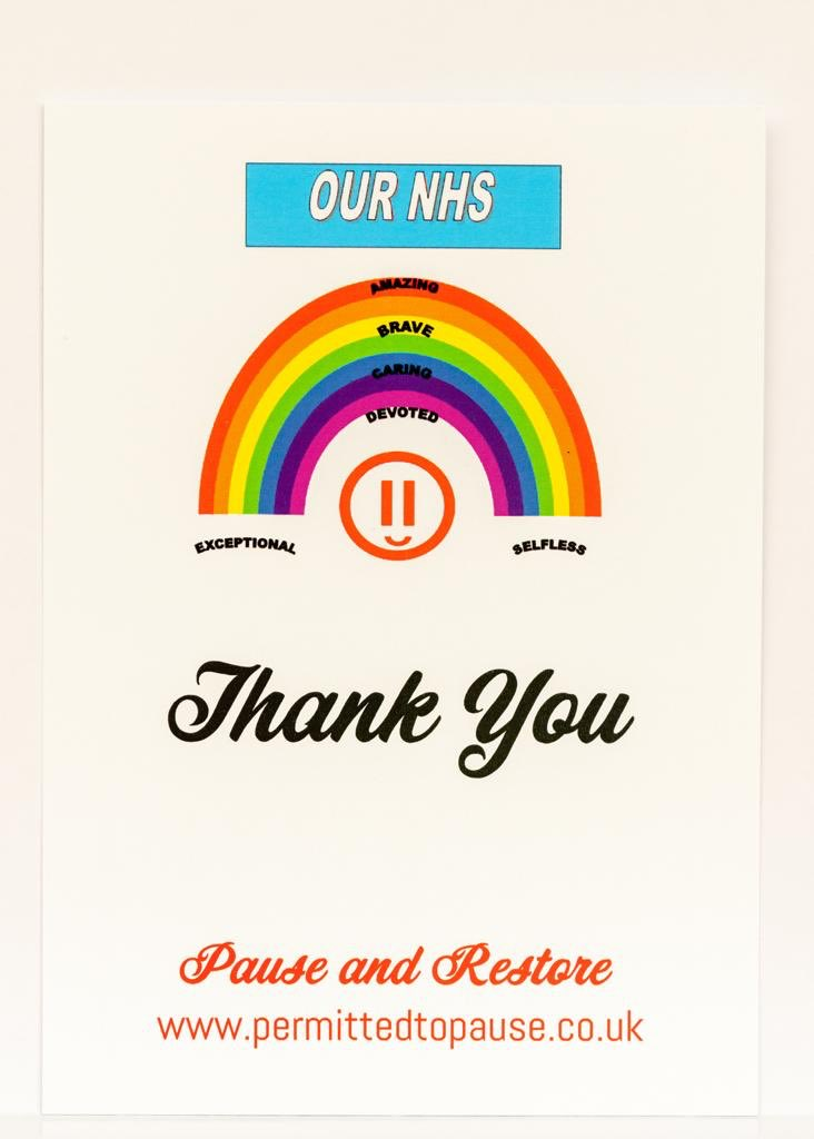 Celebrating the 72nd anniversary of the NHS today👏🌈 Say your own personal Thank you's with our Rainbow postcards. P2P supporting the NHS and the charity @DoctorsDistress see our Buy and Donate pages atwww.permittedtopause.co.uk. Here's to another 72 years 🤞🥂 💙