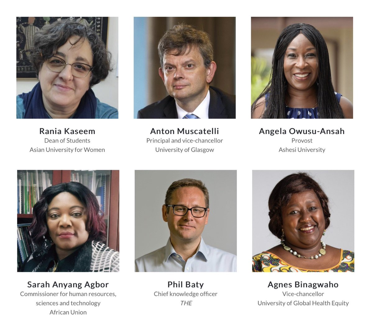 More brilliant speakers confirmed for #THEWAS 2020. Join us to explore a #newdawnHE on 1-2 Sept. https://t.co/rBSA2xrWql https://t.co/s0svuKVM5F