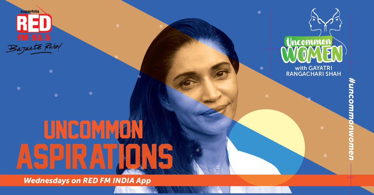Everything that you want, you already are! Here we bring to you, some #UncommonWomen with Gayatri Rangachari Shah who achieved their goals by making uncommon choices, every Wednesday, starting 8th July on Red FM India App. #RedFMPodcasts   #women #WomenInspiringWomen #WomenPowerpic.twitter.com/Ix545Tp9K7
