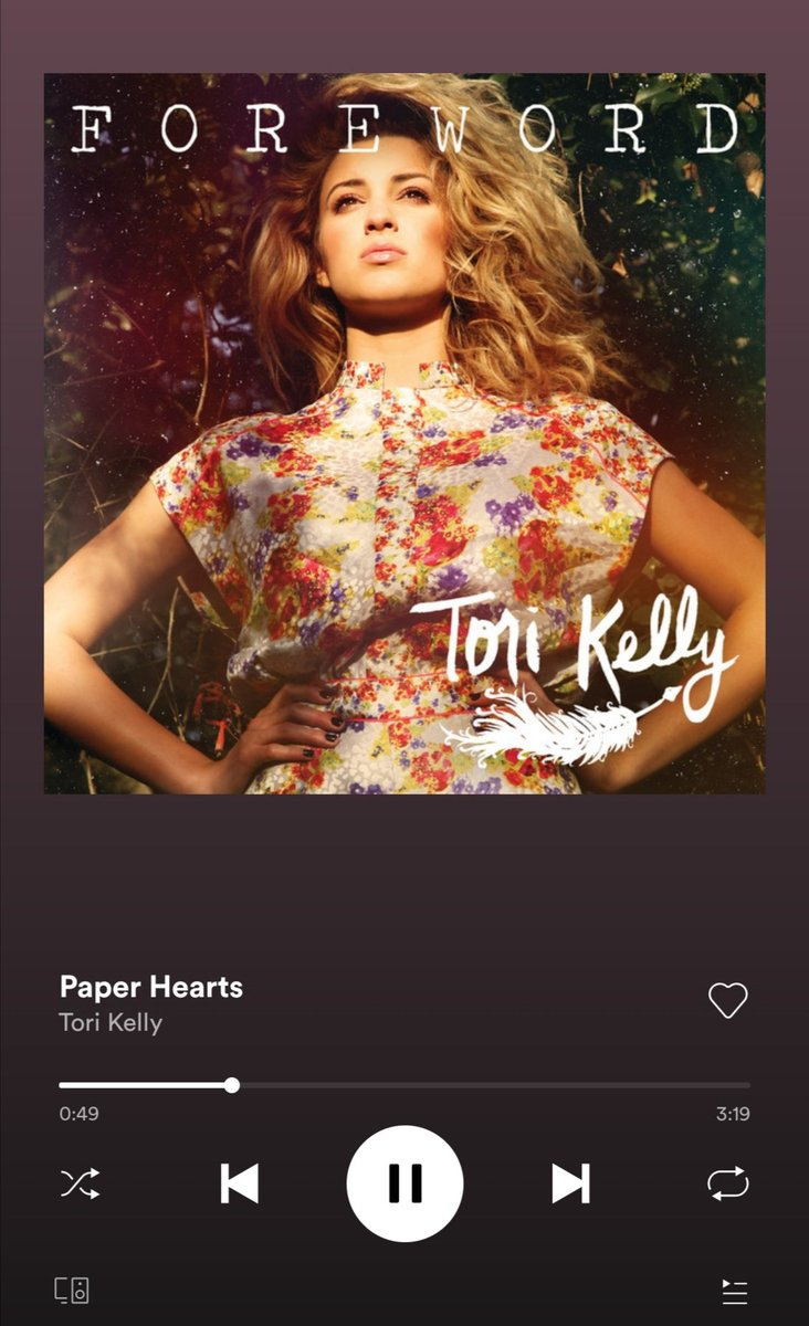 Paper Hearts by @torikelly #PaperHearts #LSS #Playlist pic.twitter.com/cfaPwg6cEY