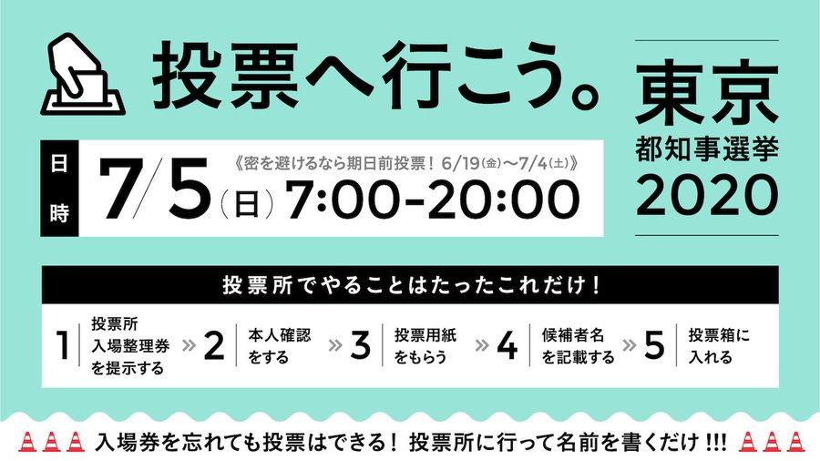 逆に人がいない投票所は8時前に閉じてしまいますっ! #都知事選を史上最大の投票率にしよう  #東京都知事選挙  #東京都知事選  #東京都知事選挙2020 https://t.co/OdlLWue87a