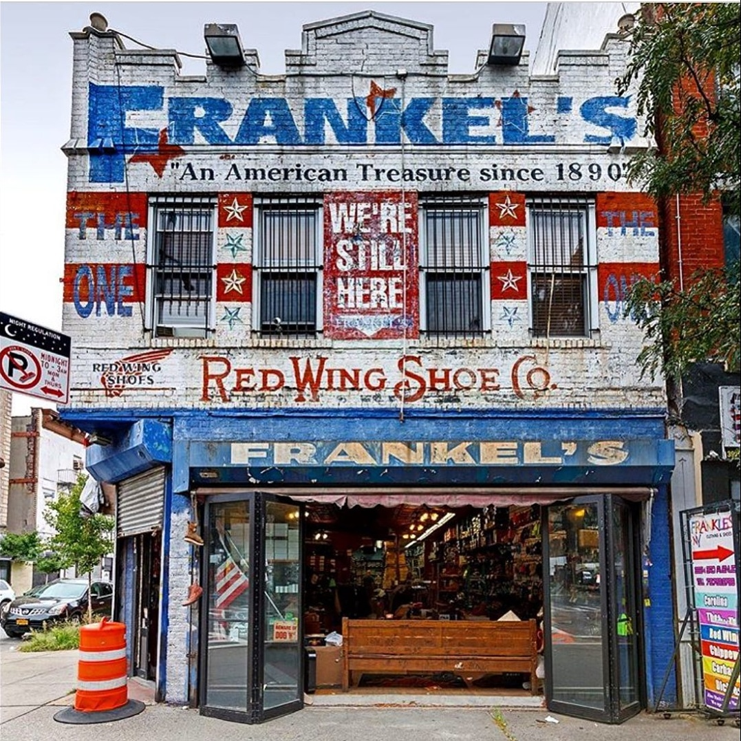 Frankel's, a work clothing and shoe store in Sunset Park, Brooklyn.  #instagram by @JamesandKarla https://t.co/JdGb7otc0z