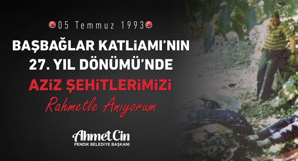 Başbağlar içimizdeki yaradır. Erzincan Başbağlar Köyü'nde 5 Temmuz 1993 akşamı ezan vaktinde PKK tarafından kadın, çocuk, yaşlı 33 vatandaşımız şehit edildi.  Şehitlerimizi rahmetle anıyorum.  #BasbağlarKatliamı https://t.co/FwCLTjD9R1