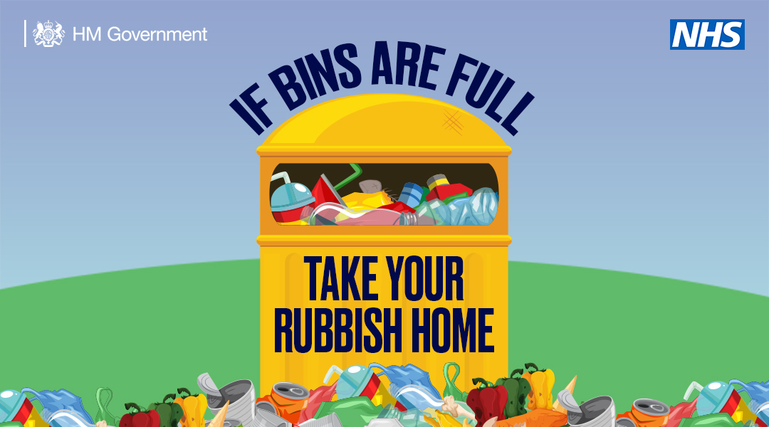 Litter can spread the virus. Take it home if the bins are full. #StayAlert