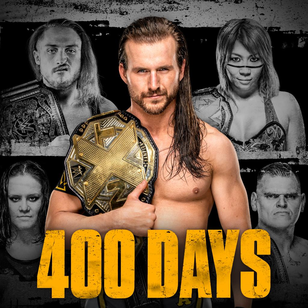 400 days as champion and a birthday?! @AdamColePro has a lot to celebrate today, bay-bay. #WWENXT #WeAreNXT pic.twitter.com/LuofIYPVzq  by Sean Slate