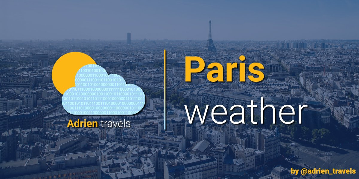 "Tomorrow in #Paris, it will be ""Partly Sunny"", with a temperature of approx. 21 °C  pic.twitter.com/i0axdrtyib"