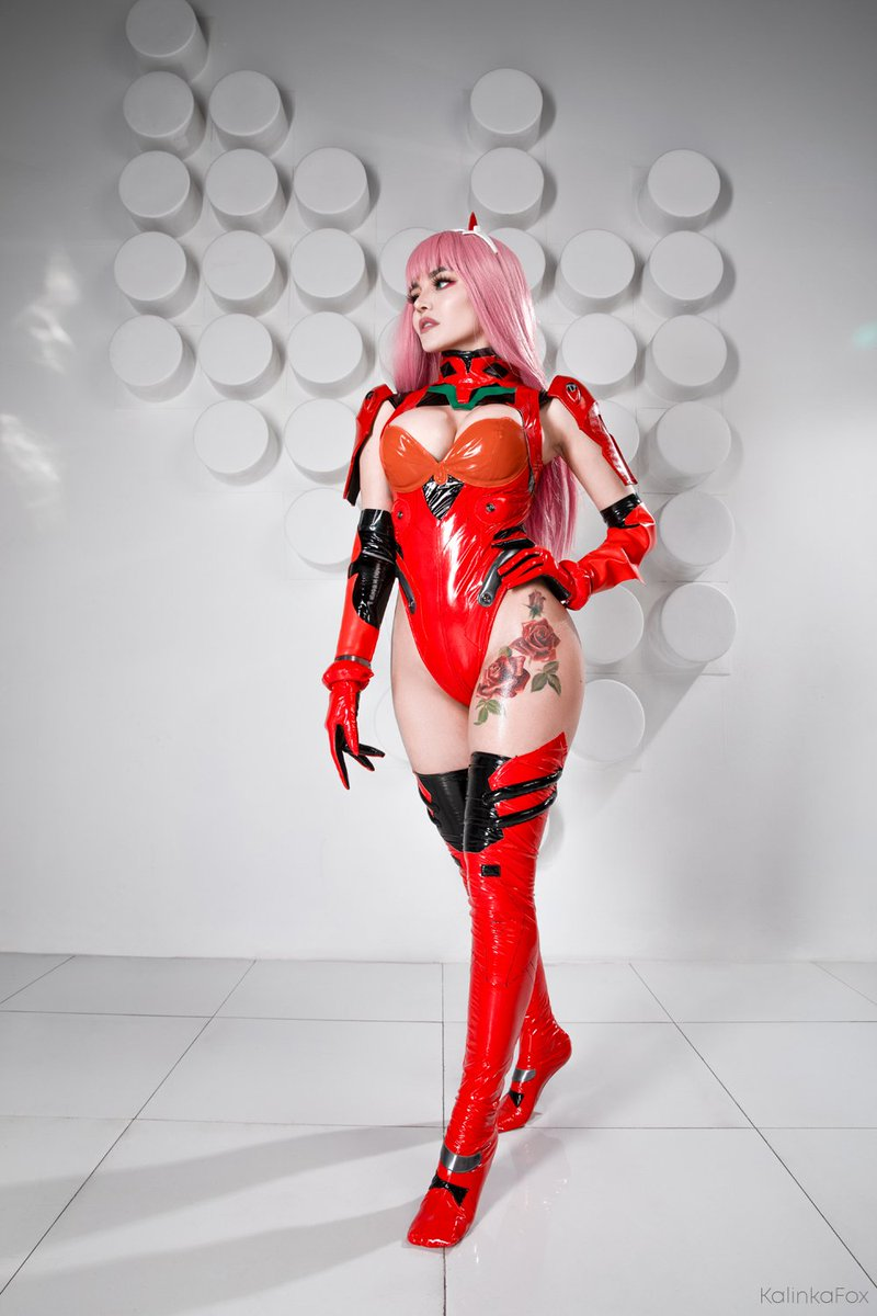 Who needs only one waifu if you can combine them?  Collab of #ZeroTwo and #Asuka inspired by Sakimichan arts Full cosplay pack on patreon in July! <br>http://pic.twitter.com/SPmbBWQp3M