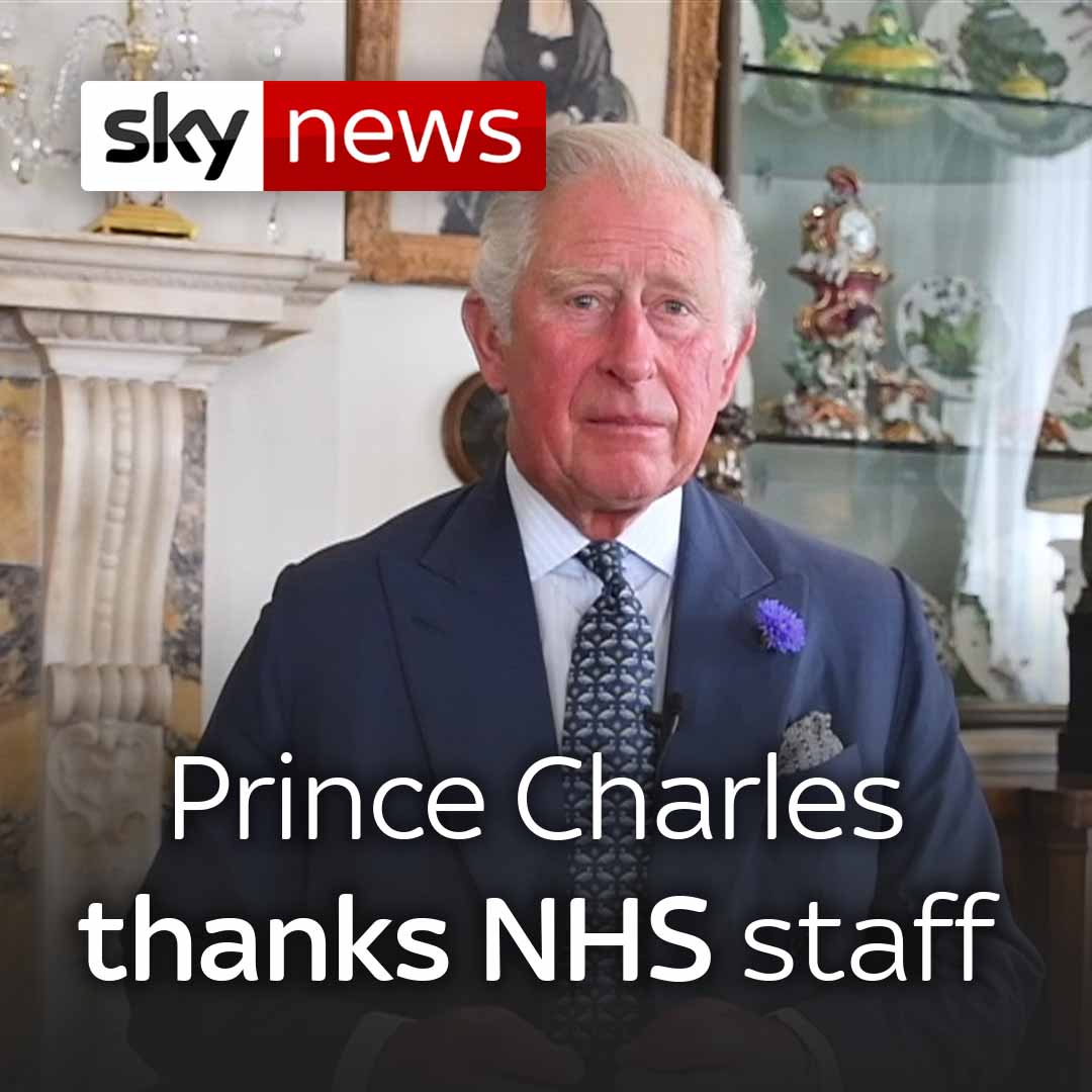 Prince Charles pays tribute to the NHS on its 72nd anniversary. Watch more videos from Sky News here: trib.al/jqXSaWy