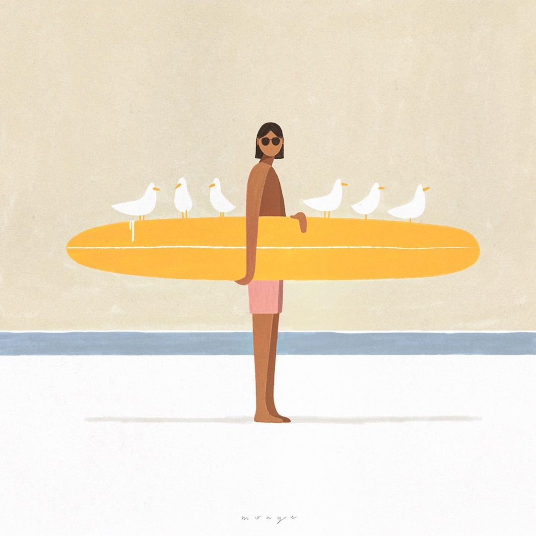 New friends, old habits .  We are reflecting on carefree, fun activities. What is your favorite one?.  #summerillustration #surfillustration #surfart #surfsketch #illustrationwork #illustrationartist #instaillustration #illustrationart #surfprint #surferartpic.twitter.com/LW347dMOwb