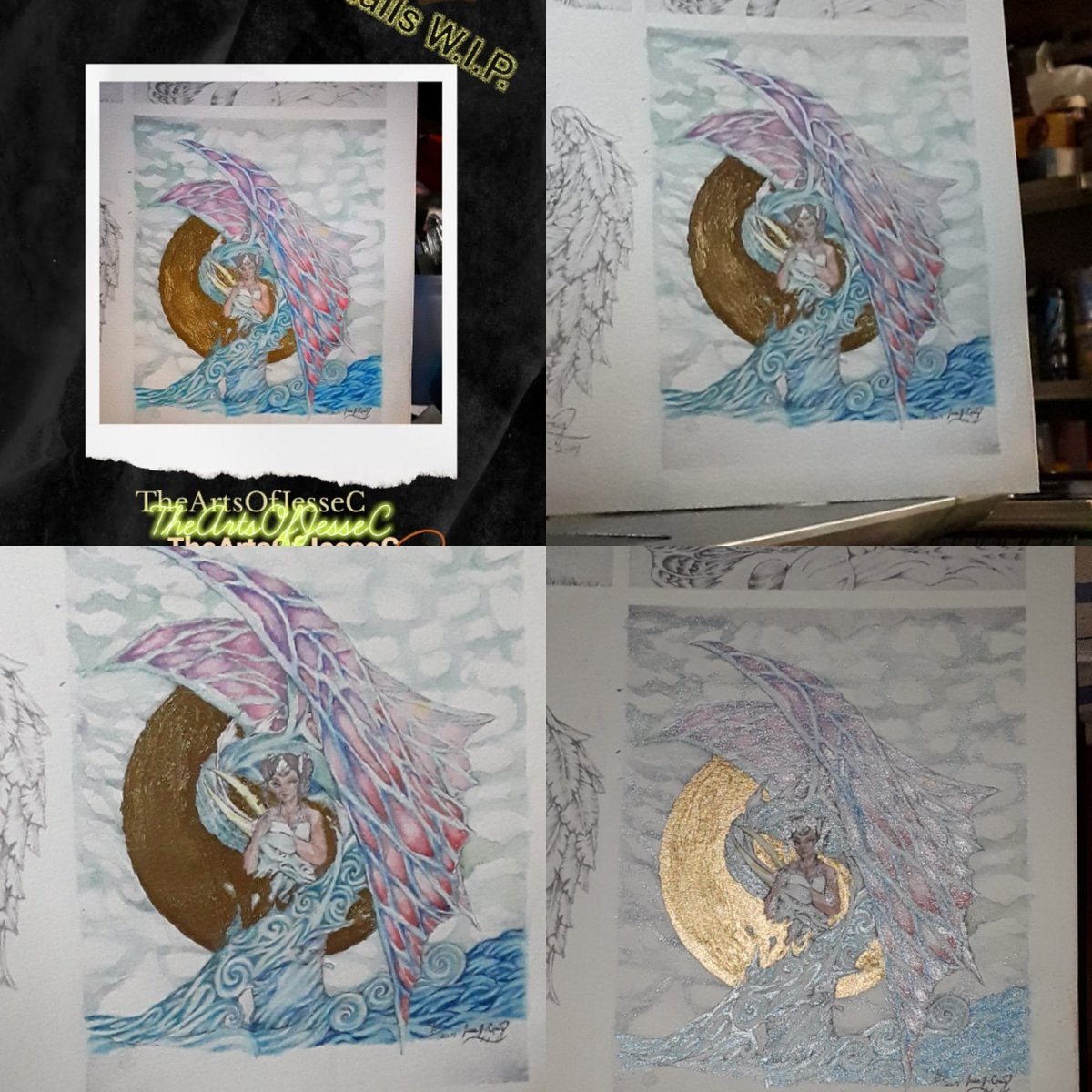 Gonna start strean at 9am(est.) this morning guys .... catch me on my #twitch @ http://twitch.tv/zombiedragonmkcraig… today I will be #sketching  #watercolorart #painting #acrylic #chillin #experimenting #arting & playin with #fantasy #fantasyart #dragonart #darkart #traditionalart & yeah! pic.twitter.com/auyDwwZ1vH
