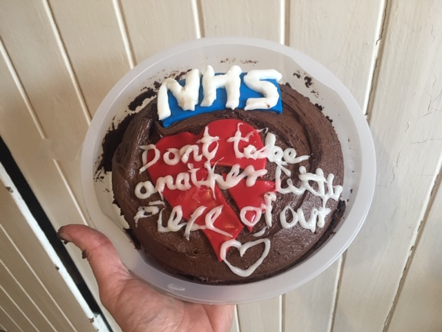 People across the country have been baking beautiful cakes to celebrate the #NHSBirthday. This baker of this cake had this message for the 72nd birthday of the NHS: Don't take another little piece of our heart. #RebuildtheNHS #BuildBackBetter