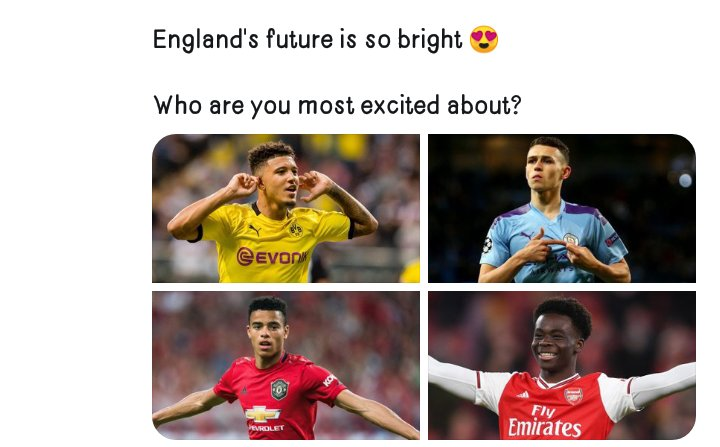 England future player who is your most player #england pic.twitter.com/3hh63p3VUo