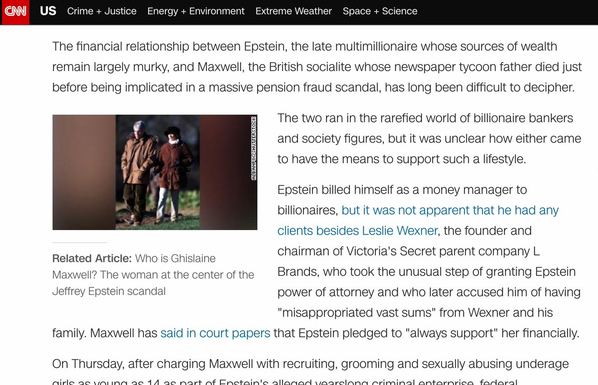 What the reports on the Epstein and Maxwell cases reveals is basically how all those laws and norms, like taxes and such, that seem to apply so rigorously to the middle class, don't apply to some others with connections and such; https://t.co/w8HkUbBgtR https://t.co/jEmJXgdllB
