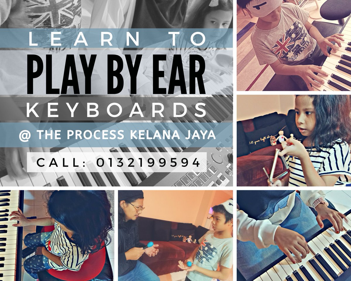 "1. If your child is interested in #music but don't want to go down that ""exam oriented"" route, sign them up for our Play By Ear individualised programme at The Process #KelanaJaya. The tutor will guide them according to their aptitude & interests.#keyboards  #PlayByEar #Malaysia>pic.twitter.com/L4BNUMNENm – at Kelana Jaya SS7"