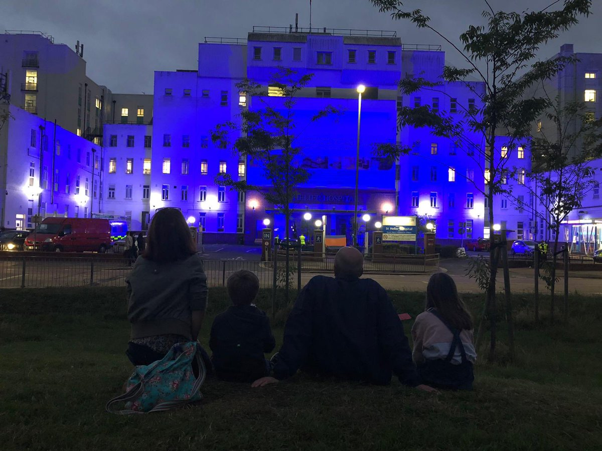 Happy 72nd birthday to the NHS. It's a time of celebration and reflection for us, and as Epsom and St Helier were lit blue last night and candles illuminated to commemorate the lives lost to COVID-19, I felt truly proud to be a part of Team ESTH. #happybirthdayNHS #NHS72 #NHS