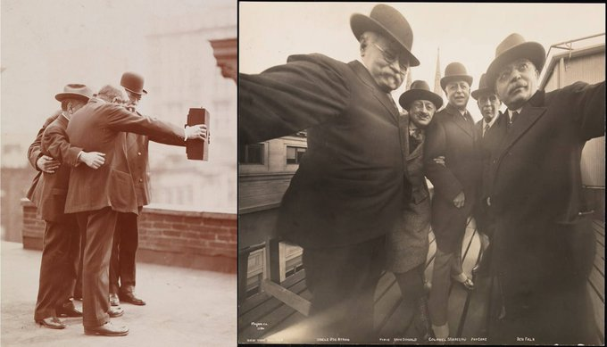 Almost 100 years before selfies became a thing, this man was taking photos of himself and his friend with the best cameras available at the time