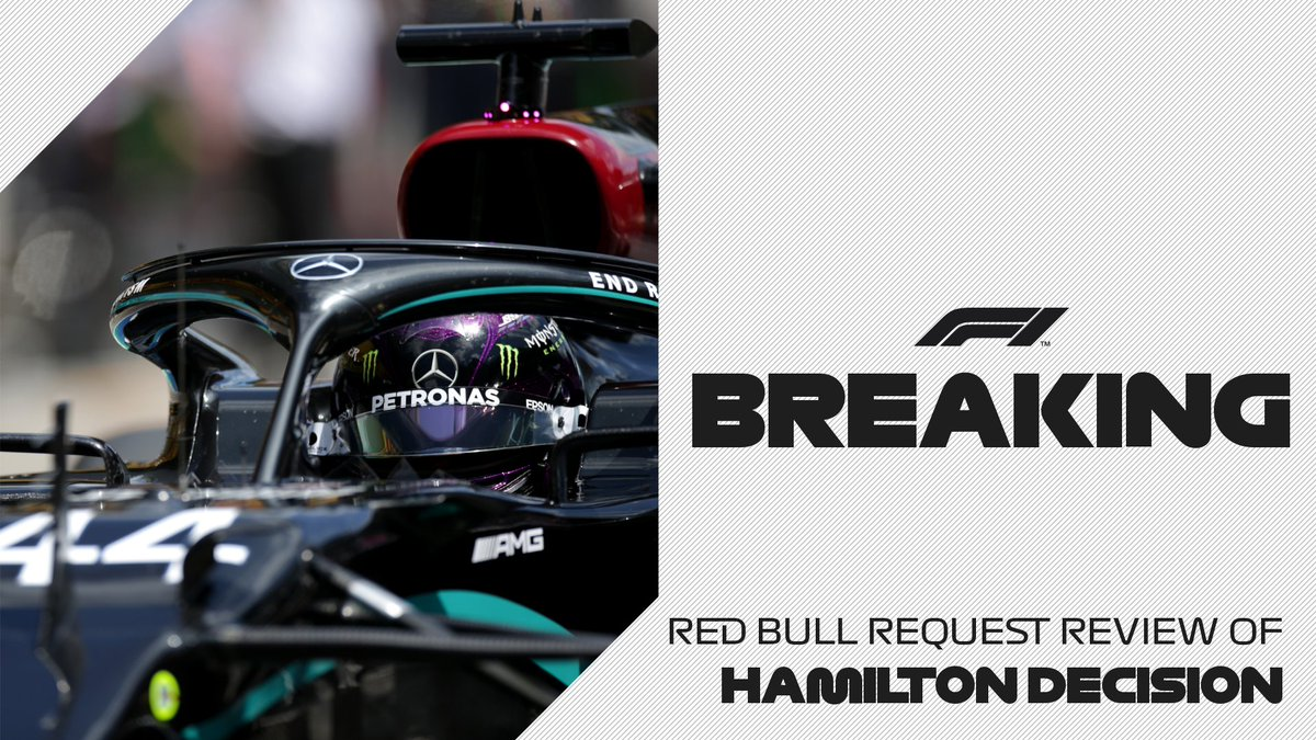 BREAKING: Red Bull have requested a review after Lewis Hamilton was cleared of failing to slow for yellow flags during Saturdays qualifying session #AustrianGP 🇦🇹 #F1