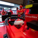 Ready to fight in a tough race 👊 #AustrianGP🇦🇹 #ForzaAlex #essereFerrari🔴 @Charles_Leclerc