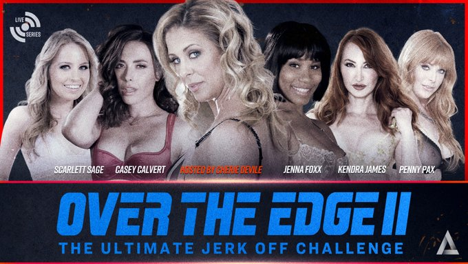 Can you go the distance?  TONIGHT, the second cumming of Over The Edge II will be streaming Live at 9pm