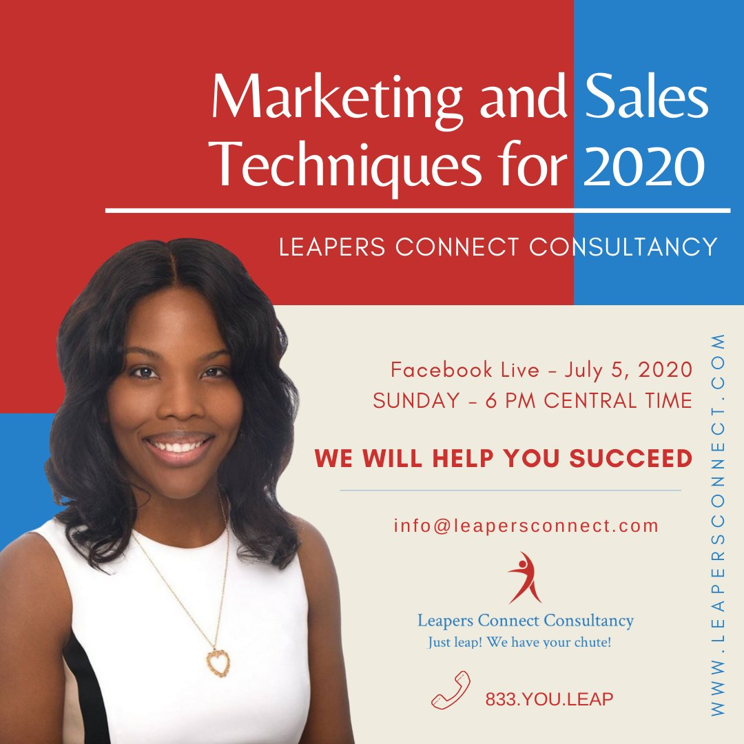 Join me for a Facebook Live @ 6 pm tonight. I know we have been through a lot since this pandemic.   And this is the time to bounce back with these Marketing and Sales Techniques.   See you!!!#businessowner #passiveincome #startuplife #businessmanagement #ceopic.twitter.com/ayPKH5SFq2