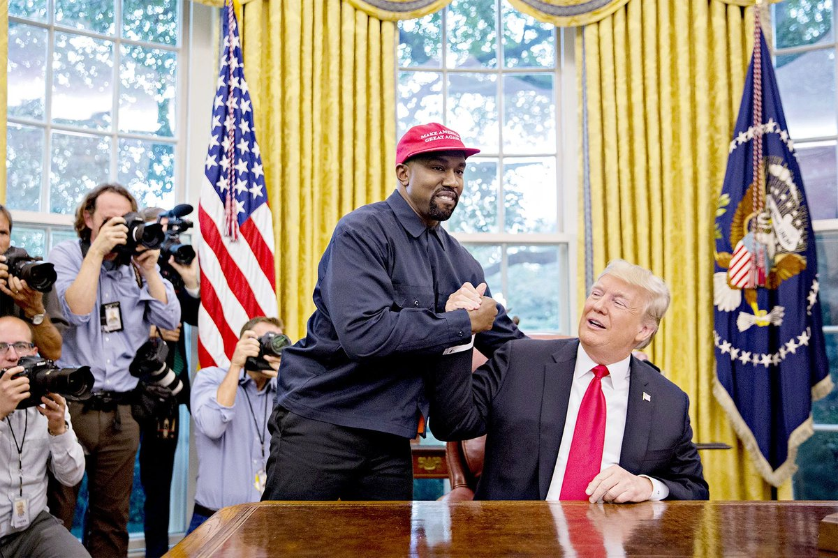 Kanye is running in 2020 to take the black vote from Biden and try and help his buddy, Donald J Trump, get re-elected.   Sorry to state the obvious. https://t.co/hckRwikFso