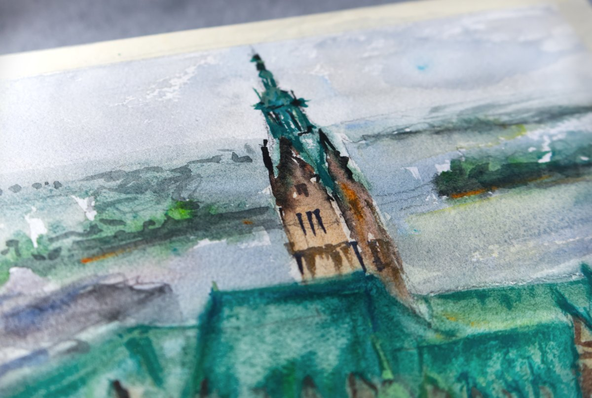 Watercolor of the Town Hall from Hamburg https://youtu.be/HqOtpCF2WW4  #watercolor #Watercolour #watercolorart #paintings #painting #ArtistOnTwitter #Hamburg #Germany #YouTuber #painting #painter #urbansketching #sketcherspic.twitter.com/UzjlCR9cfb