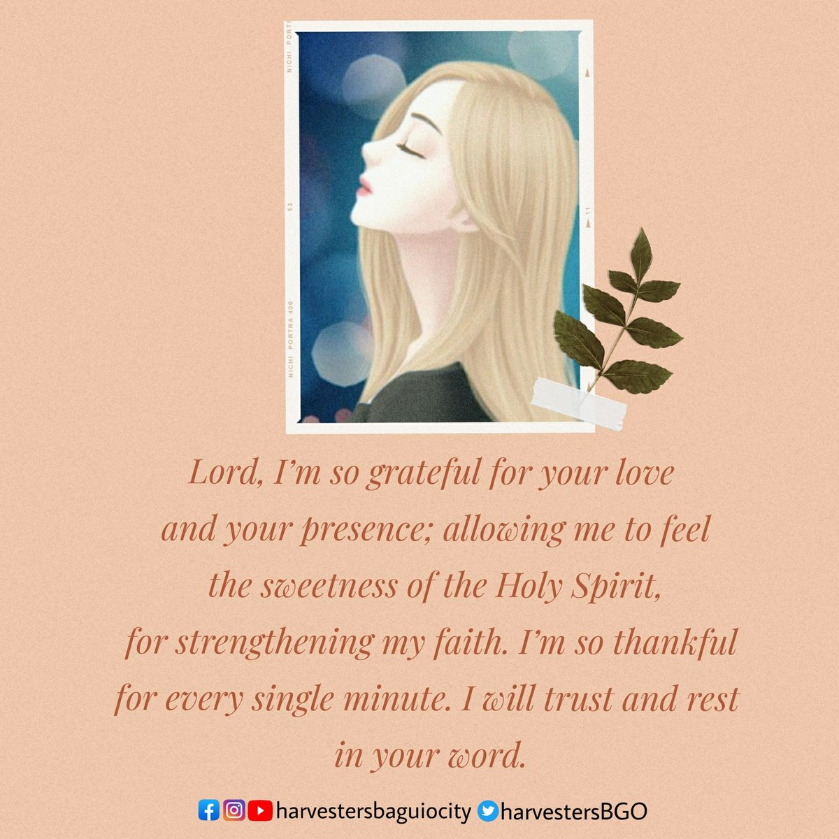 Lord, I'm so grateful for your love and your presence; allowing me to feel the sweetness of the Holy Spirit, for strengthening my faith. I'm so thankful for every single minute. I will trust and rest in your word.  #POTD ( Prayer of the Day ) pic.twitter.com/hIKVSToVk5