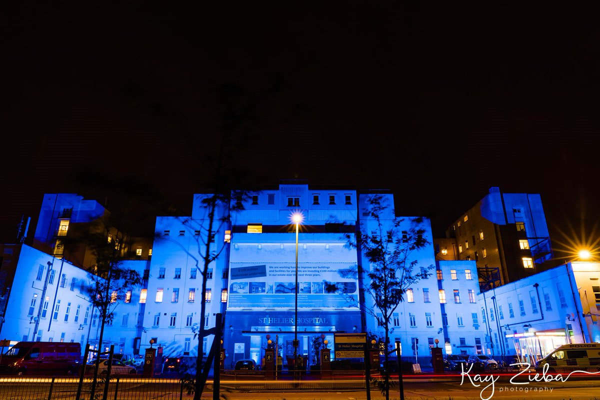 A huge thank you @EsthCharity and @Fusionsoundligh for lighting up our hospitals last night. Photos by @KarolinaZieba #NHS72 #LightItBlue #ThankYouTogether