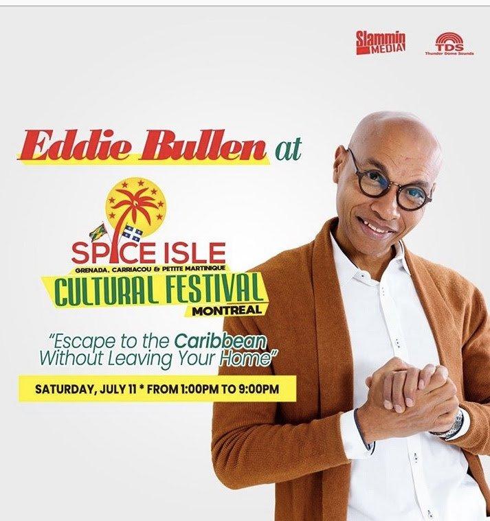 Nous vous invitons à vous connecter le samedi 11 juillet de 13 h à 21 h pour profiter de @eddiebullen et d'autres au Festival @spiceislandculturalday de Montréal en linge via Facebook et YouTube dans la sécurité et le confort de votre maison pic.twitter.com/MR74otmiOr
