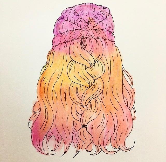Sloppy but cute watercolor hair http://Instagram.com/h20_color_artist… #watercolor #Watercolour #watercolorart  #art #artist #ArtistOnTwitterpic.twitter.com/hBtkkG5HpI