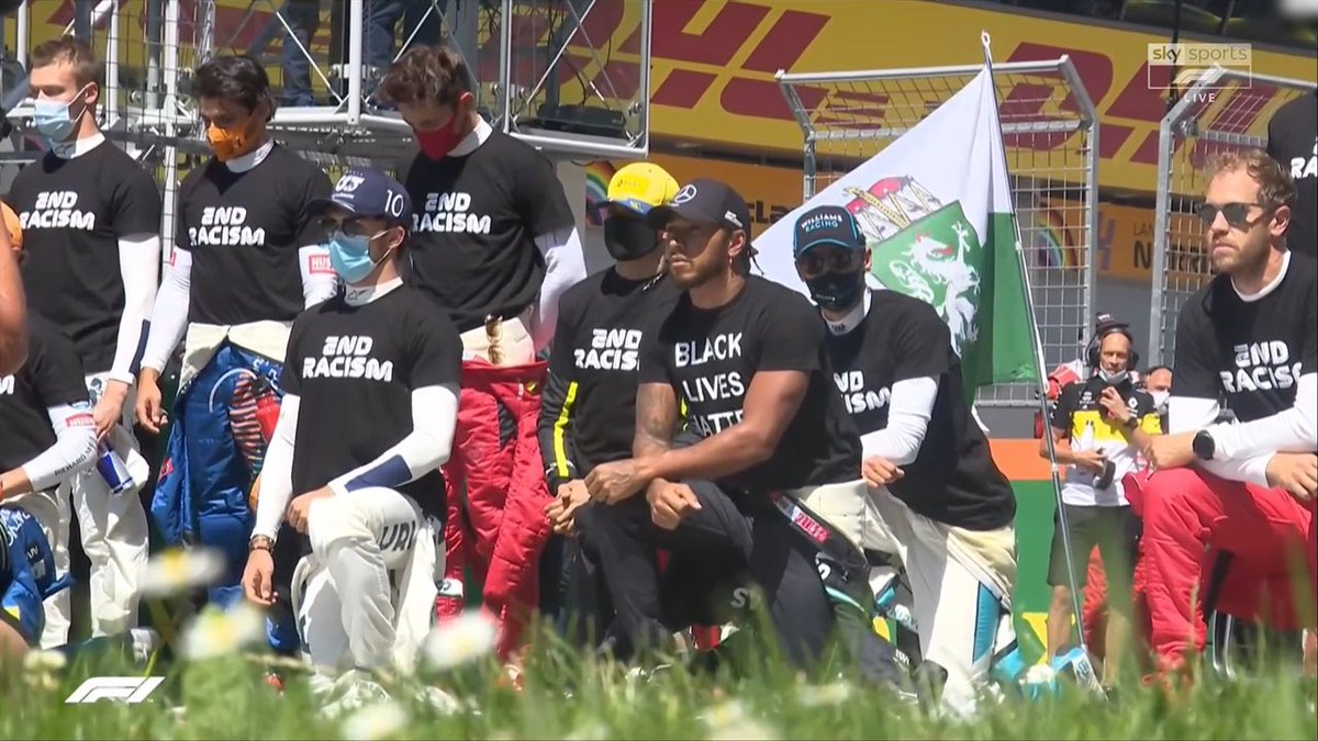 Have a sense of humour implanted.  How come Lewis was the only one to refuse to wear the End Racism t shirt, and wear one supporting the violent Marxist organisation instead?  It's all me, me, me with Lewis isn't it.pic.twitter.com/MaAmRmKKyT