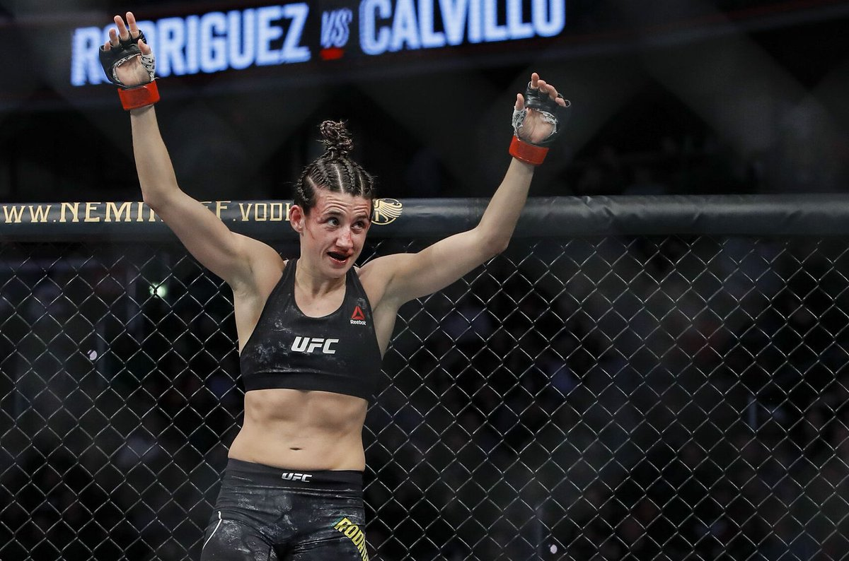 Carla Esparza vs. Marina Rodriguez re-booked for July 25 UFC event in Abu Dhabi (@guicruzzz, @mikeheck_jr) https://t.co/gxyZAnUMAs https://t.co/FIA0d07P6g