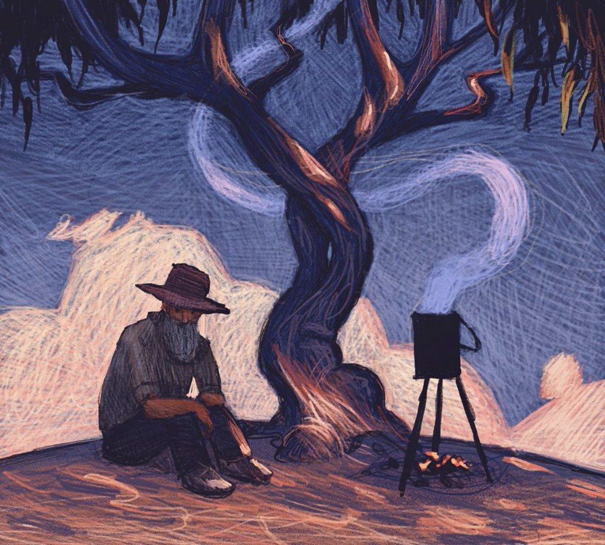 """""""إن المرء منا ليشعر بالألفة حتى مع شجرة جلس تحتها أكثر من مرة فَكيف يُنسى من ألفتهُ الروح؟"""" https://t.co/2dLU7vDZDY"""