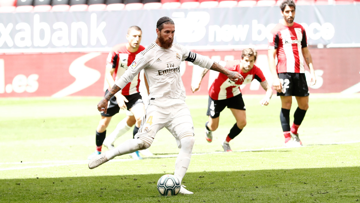 راموس يقود ريال مدريد للفوز على اتلتيك بلباو بصعوبة على ملعب سان ماميس