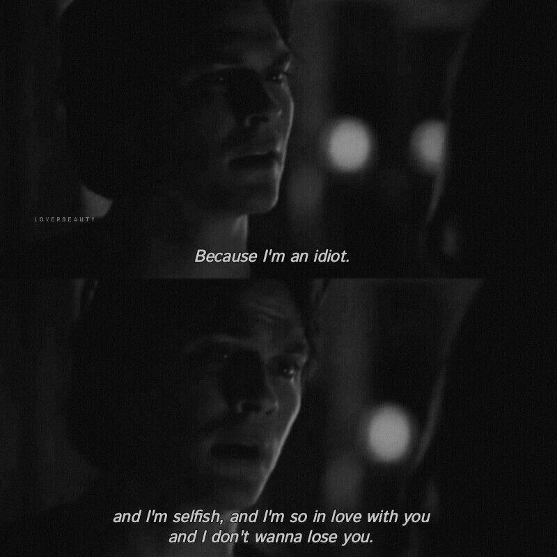 """_به خاطر اینکه من یه احمق و خودخواهم  و اینقدر عاشق توام که نمیخوام از دستت بدم....🖤🖤 '' #Dialog #Movie 📽 : The Vampire Diaries """" https://t.co/7JSTgo5bp3"""