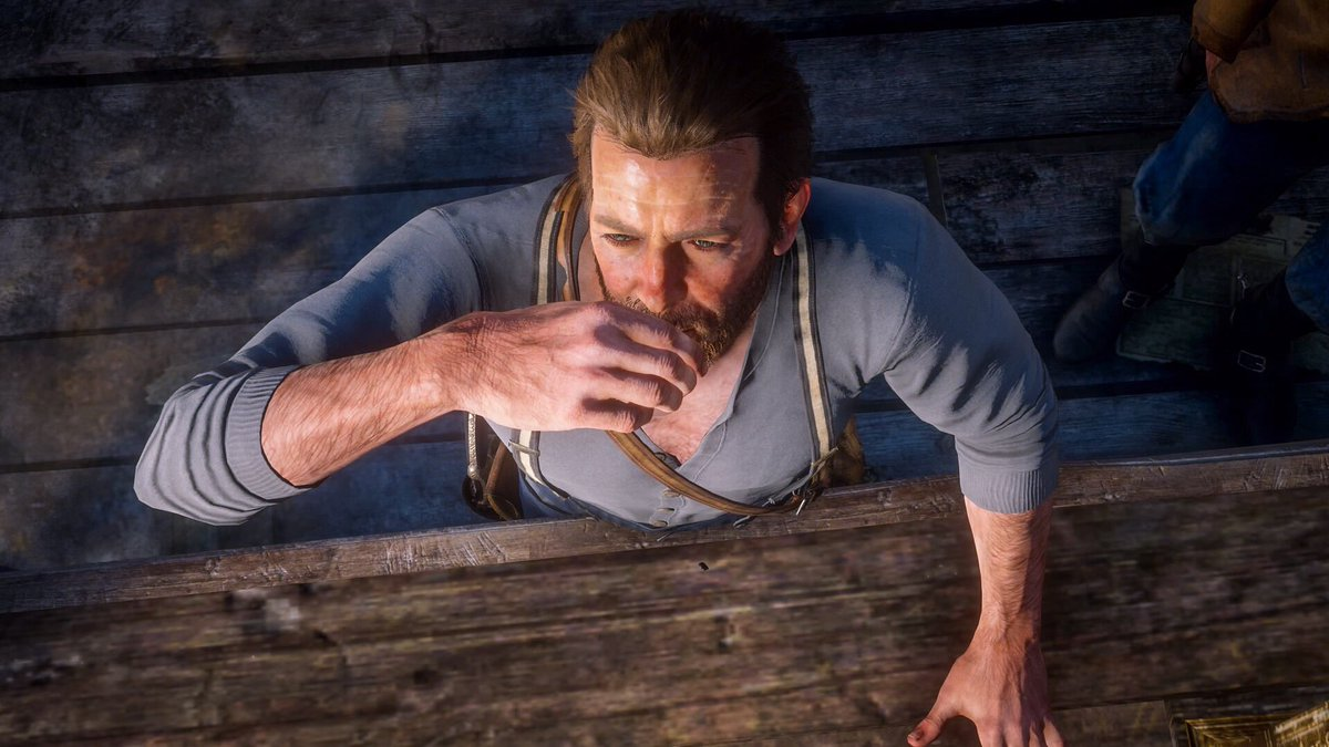 Cheers! It's #Birthday80KForRog time! As we're getting closer to Roger's birthday I'm going to be sending these out a bit more frequently.   #reddeadredemption2 #rdr2 #arthurmorgan #rogerclarkpic.twitter.com/VngvOAaJeE
