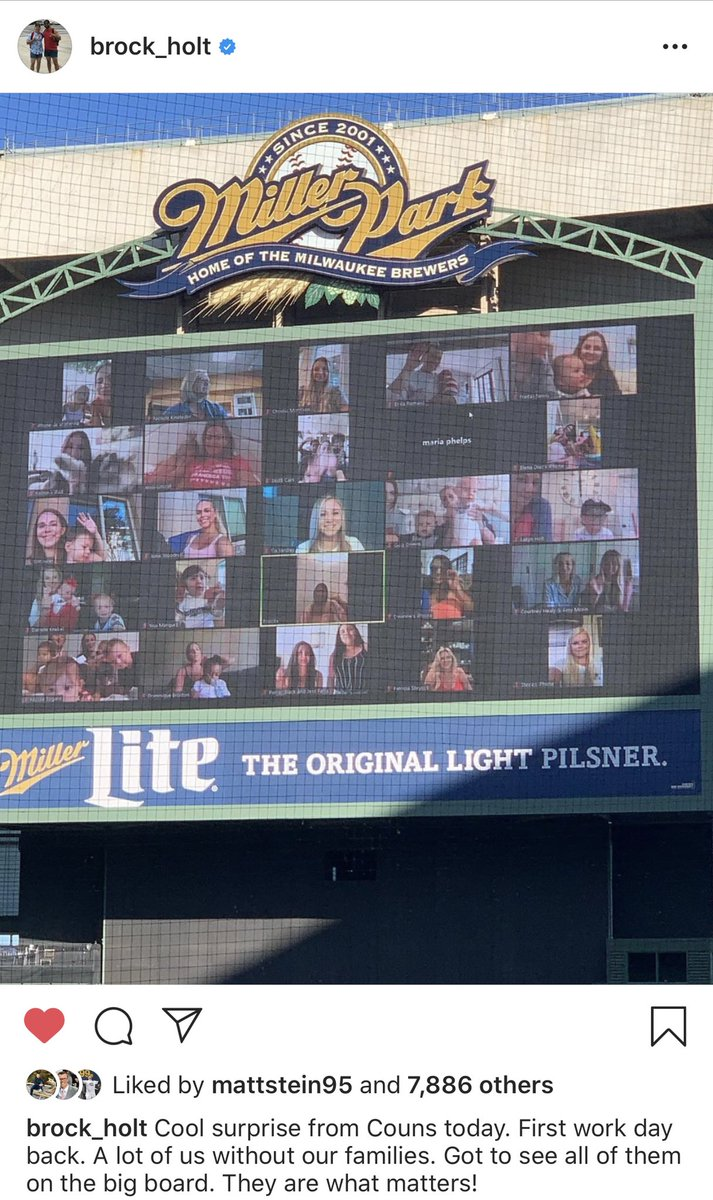 Craig Counsell gets it. The @Brewers families supporting the Crew from home yesterday. #ThisIsMyCrew https://t.co/3RhaXrBcKr