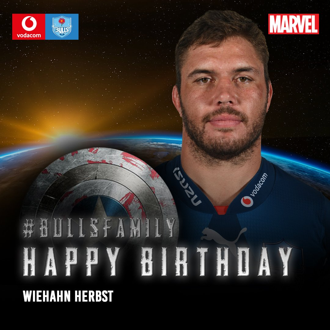 The Vodacom Bulls would like to wish Wiehahn Herbst a very happy birthday. We hope that this year is filled with great memories. Enjoy your special day. #BullsFamily